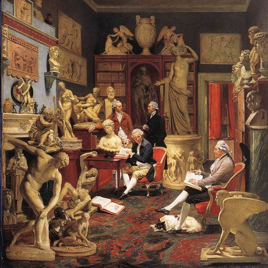 Zoffani, Johann - Charles Towneley in his Sculpture Gallery - 1782 (Wikimédia)